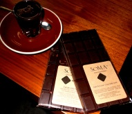 Chocolate on top of chocolate: taking a hot cocoa break at Soma Chocolatier, Toronto.